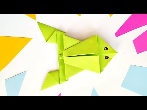 Make an origami frog that really jumps | Origami frog, Origami ... | 360x480
