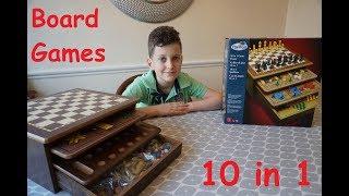 Pavillion Board Games 10 in 1 Chest