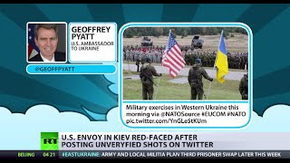 US Envoy in Kiev red-faced after posting unverified shots on Twitter thumbnail