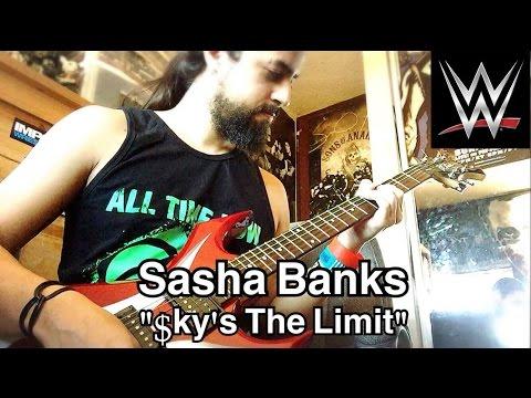 """Sasha Banks """"Sky's The Limit"""" WWE Theme Guitar Cover"""