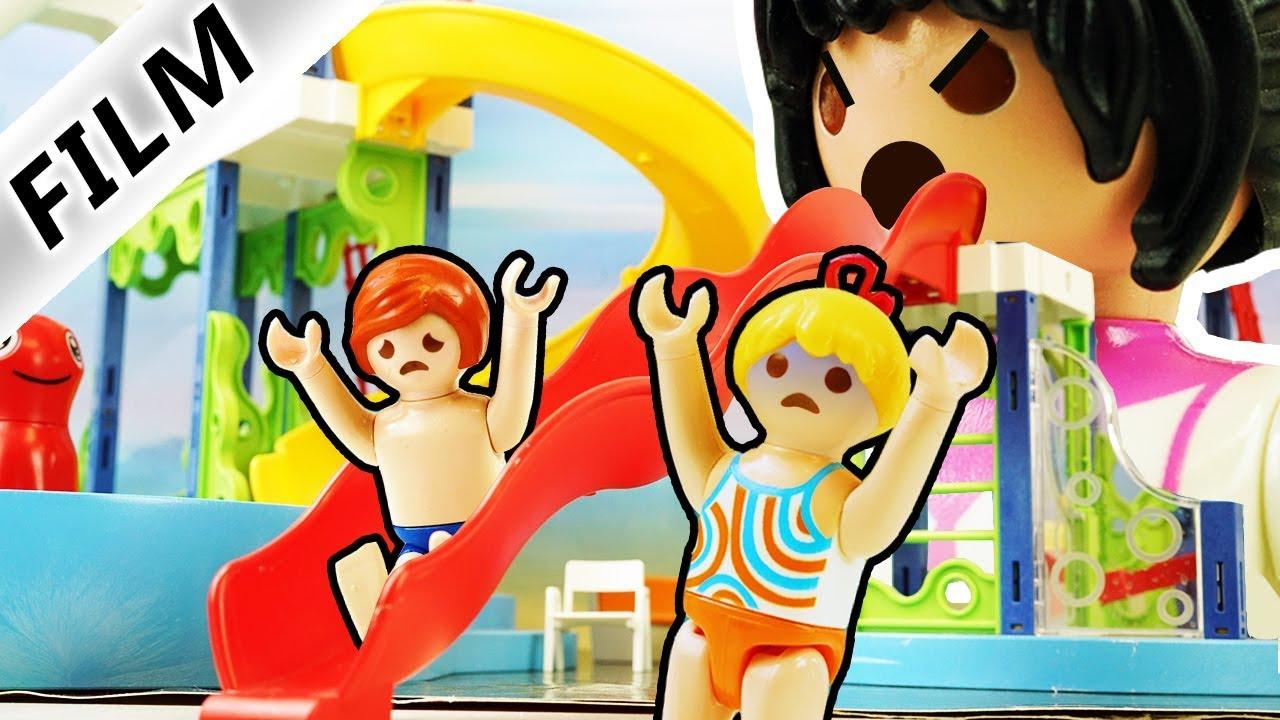 Playmobil Film Deutsch AUS WASSERPARK ENTKOMMEN! BADEMEISTERIN MIT POOL AUS LAVA! Familie Vogel