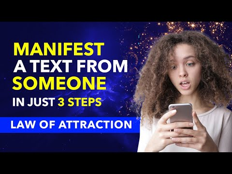 FAST RESULT ✅How To Manifest A TEXT MESSAGE (Or CALL) From Someone Specific Using LAW OF ATTRACTION