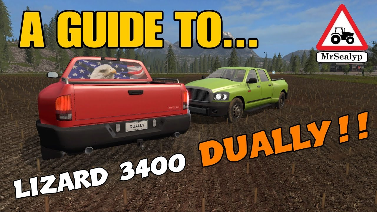 A Guide to    LIZARD 3400 DUALLY!! New Mod! Farming Simulator 17 PS4   Review