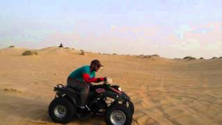 4 wheel bike ride in desert