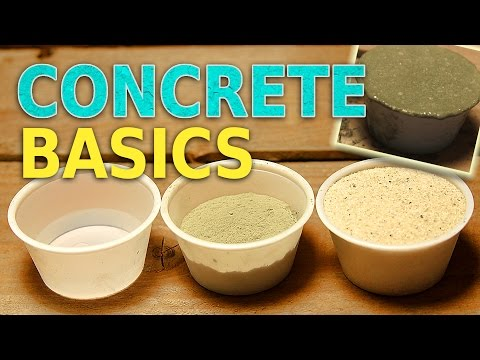 Concrete Basics - Mixing and Casting Cement and Sand - Simple Concrete Recipe