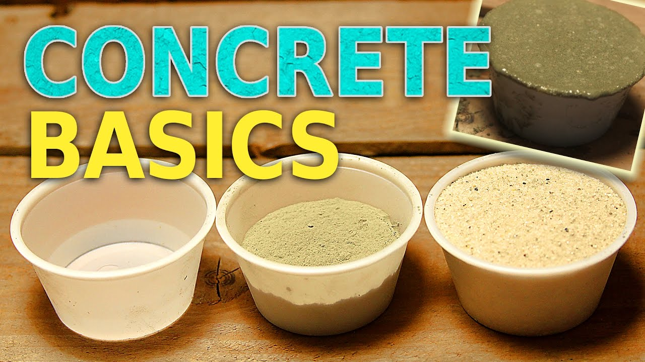 concrete basics mixing and casting cement and sand. Black Bedroom Furniture Sets. Home Design Ideas