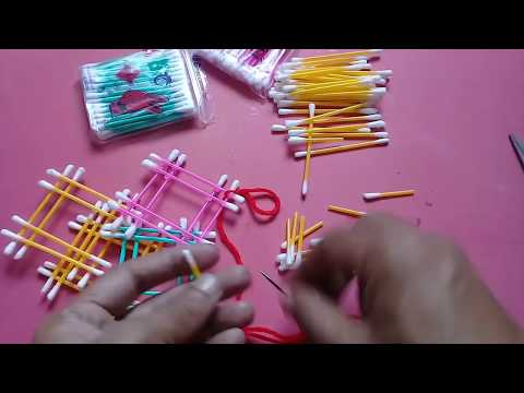 How to reuse waste cotton Buds | Cotton Buds Wall Hanging | Best out of waste