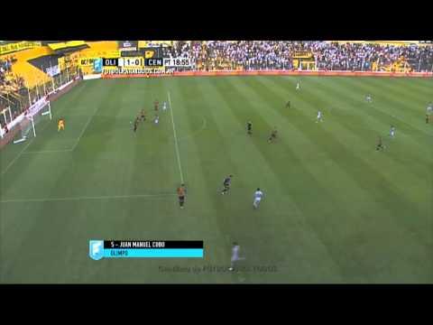Gol de Cobo. Olimpo 1 - Central 0. Fecha 4. Primera División 2015. FPT.