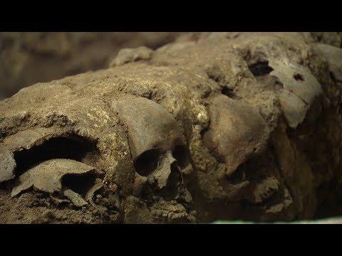 Uncovered tower of skulls reveals dark Aztec history
