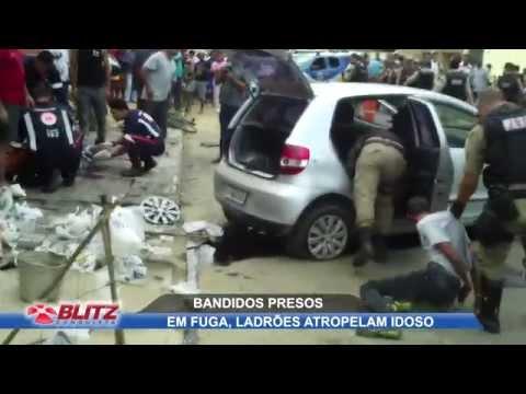 EM FUGA: BANDIDOS BATEM CARRO E ATROPELAM IDOSO