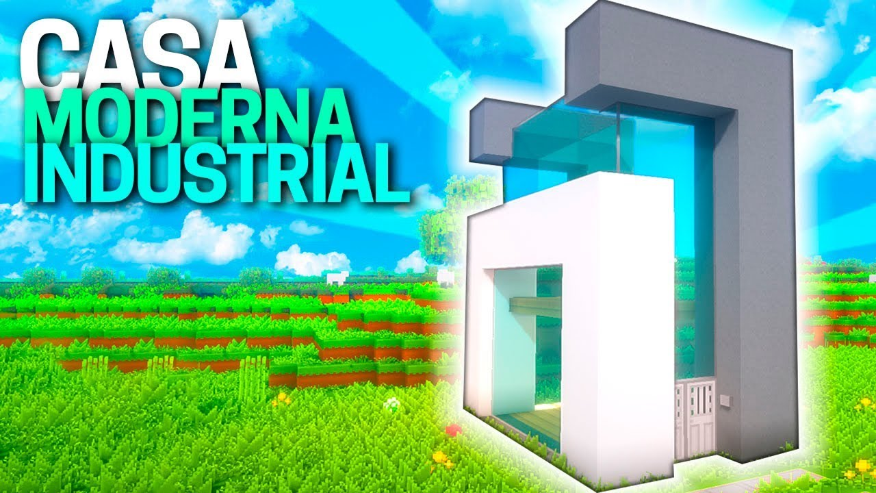 Minecraft c mo construir una casa moderna industrial for Casa moderna tutorial facil de hacer
