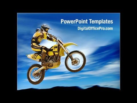 motorcycle sport powerpoint template backgrounds digitalofficepro 02150 youtube. Black Bedroom Furniture Sets. Home Design Ideas