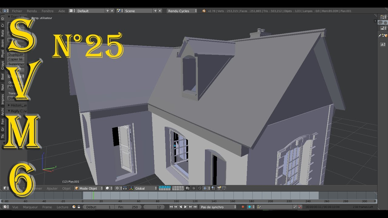 Blender maison 3d for Modeliser sa maison