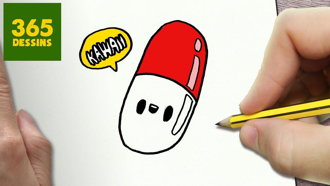 comment dessiner pilule kawaii tape par tape dessins kawaii facile youtube. Black Bedroom Furniture Sets. Home Design Ideas