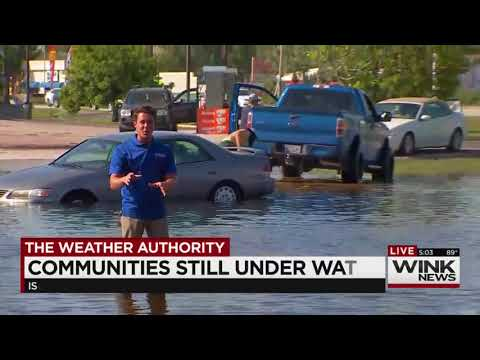 Island Park Road Fort Myers Flooding Drone