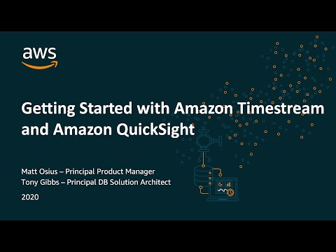 Analyzing Data in Amazon Timestream  using Amazon QuickSight