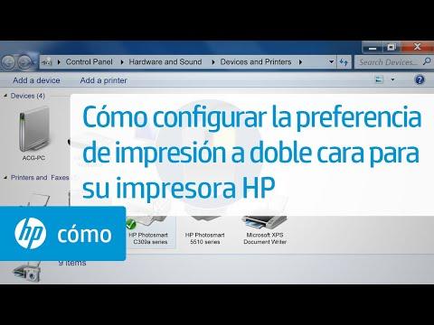 Cómo configurar la preferencia de impresión a doble cara para su impresora HP | HP Computers | HP