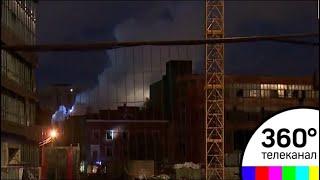 """Крупный пожар в Москве: горит бывший завод """"Серп и Молот"""""""
