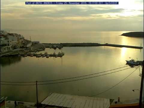 Golden Sunset #1 in Port of Batsi, Andros - Greece
