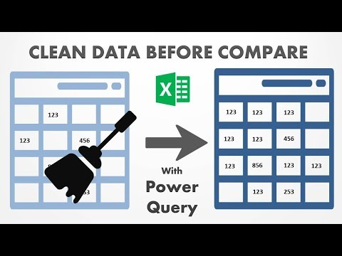 Excel VBA - Compare Data Template - Clean your data super easy way before comparing with Power Query