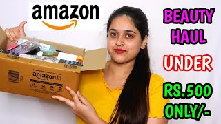 ?MY NEW BEAUTY PRODUCTS RECEN TLY GOT FROM AMAZON?SKINCARE | NAILS | UNDER 500?