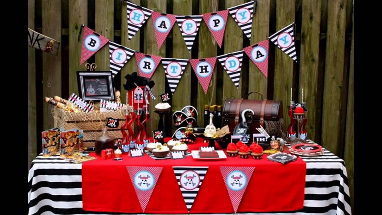 Awesome Pirate party decorations - YouTube