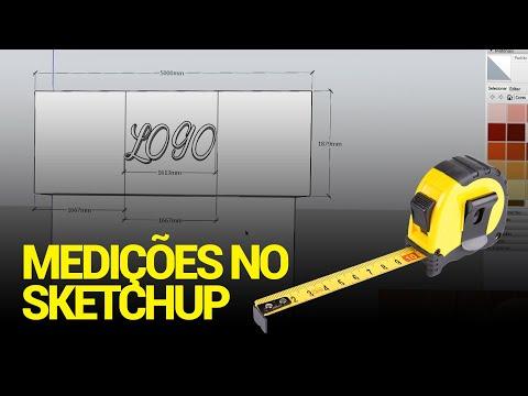 Trabalhando com medidas/cotas no Sketchup