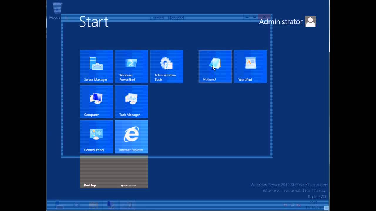 user interface overview - windows server 2012
