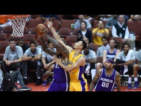 Yi Jianlian Highlights 2016-10-13 Preseason Kings VS Lakers