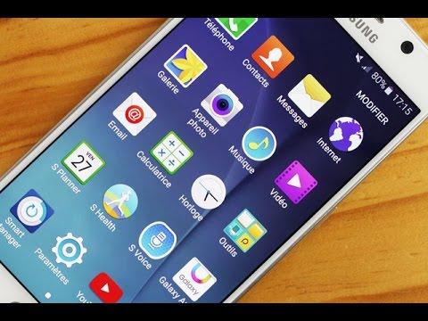 Samsung Galaxy S6 Test Francais Interface TouchWiz