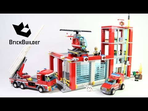 Lego City 60004 Fire Station Lego Speed Build Youtube