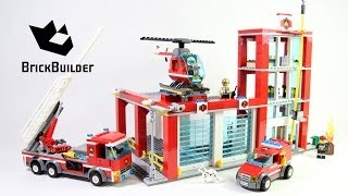 Lego City 60004 Fire Station - Lego Speed Build