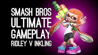 Smash Bros Ultimate Gameplay: Let's Play Smash Bros Switch New Characters Ridley Vs Inkling