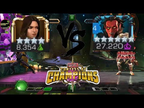 Quake VS Mephisto 6 star challenge!!! Marvel contest of champions!!!