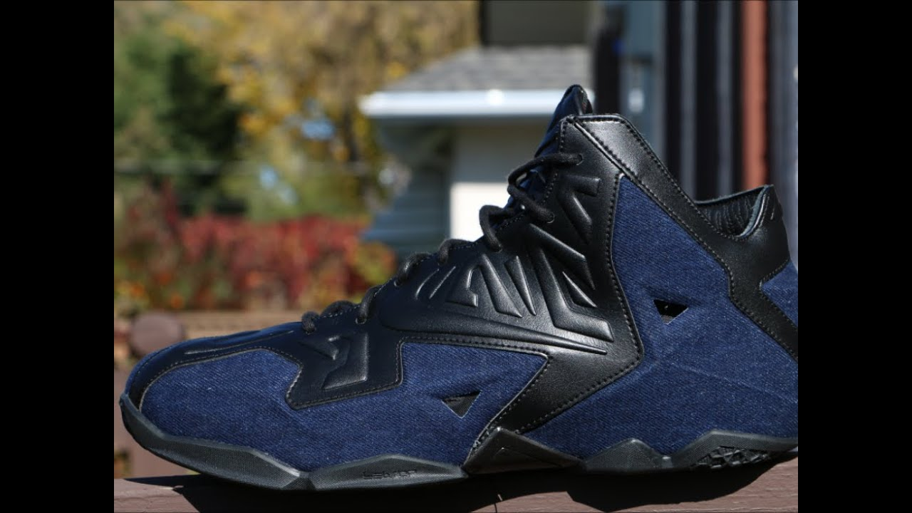 info for 05681 44d16 Nike LeBron 11 EXT Denim - Detailed Review