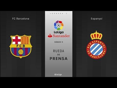 Rueda de prensa FC Barcelona vs Espanyol