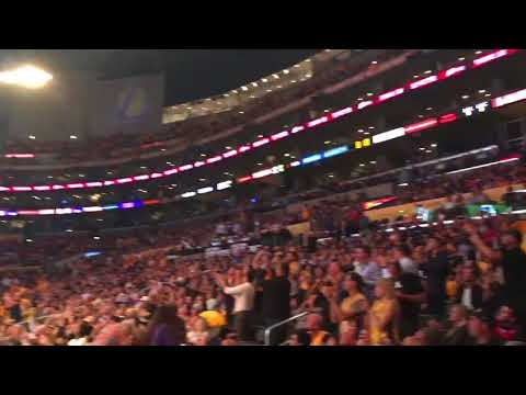 Staples Center reacts to the Dodgers going to the World Series for the first time since 1988