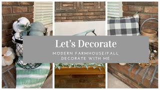 🍁MODERN FARMHOUSE/FALL DECORATE WITH ME🍁| AMAZON FARMHOUSE FIND OF THE WEEK