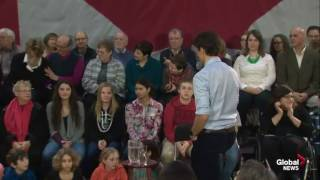 Trudeau STABS sobbing disabled Woman right in the back