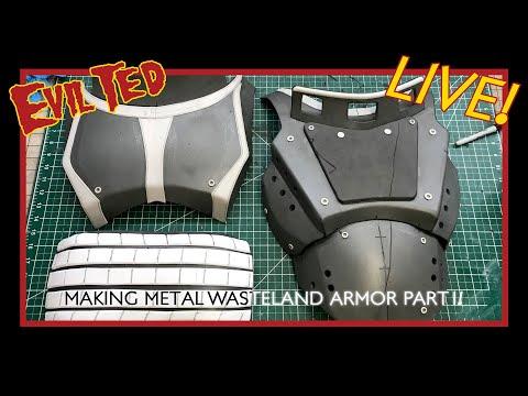Evil Ted Live: Making Metal Wasteland Armor Part 1 + Pattern
