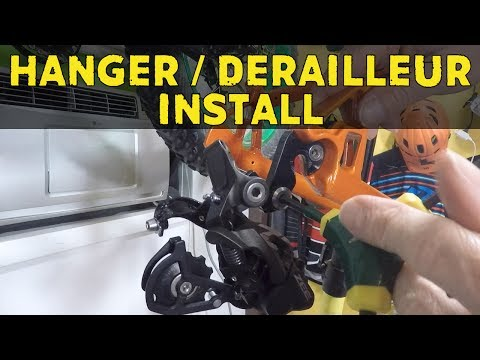 How To Install A Derailleur Hanger And Rear Derailleur On A Mountain Bike | How To Build A MTB