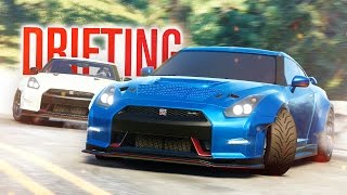 NISSAN GTR MOUNTAIN DRIFTING The Crew Calling All Units W The Nobeds