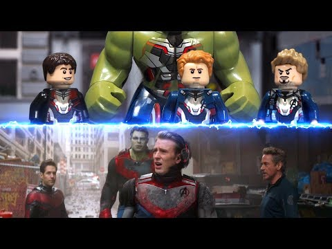 Avengers Endgame Iron Man Captain America Back To New York 2012 Lego Side By Side Comparison