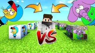 KRAL ŞAKİR VS FİL NECATİ ŞANS BLOKLARI - Minecraft