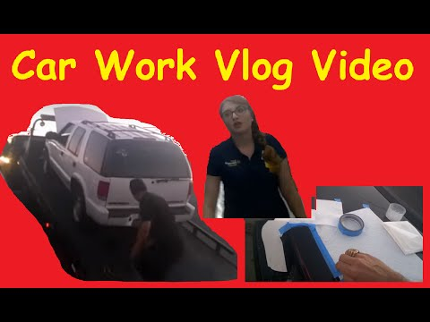 Daily Car Work Vlog Indicator Lens Restore S10 Transport BTS Video