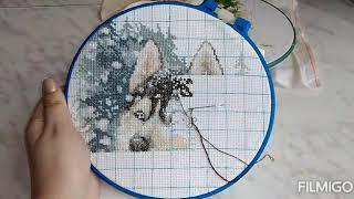 Все мои начатые процессы #алена_рукодельница #вышивальныйютуб #вышивка #творчество