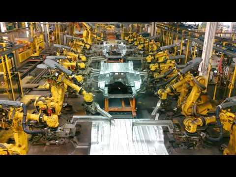 Fanuc robots at Ford,  in Kansas city, MO.