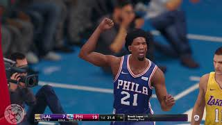 NBA LIVE 18: Lakers vs 76ers - Ball vs Fultz - First Half