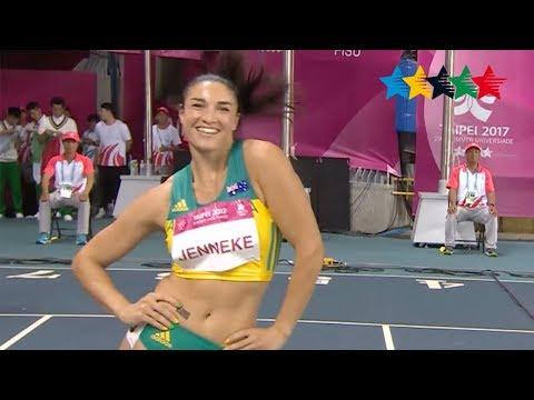 Michelle Jenneke brings her warm up dance back- 29th Summer Universiade 2017, Taipei, Chinese Taipei