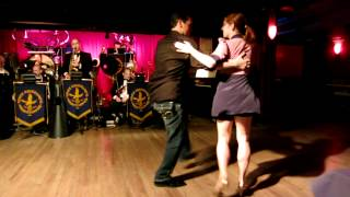 Mickey Fortenasce and Kelly Arsenault are dancing to Vince Giordano's Nighthawks' Jazznocracy